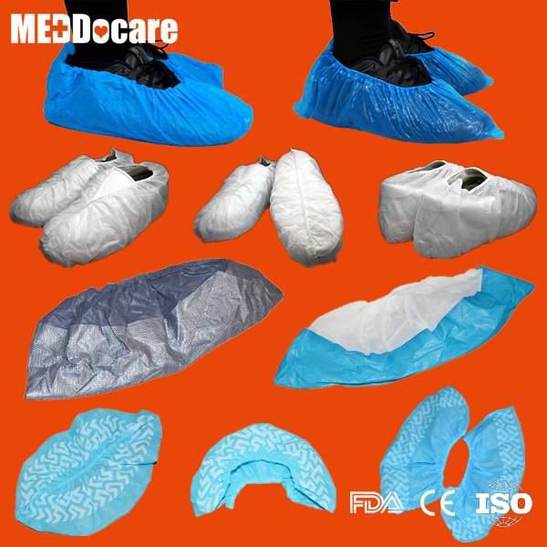 Dailyuse PP SMS Anti-skid Waterproof PE CPE Disposable Blue Plastic Shoe Covers