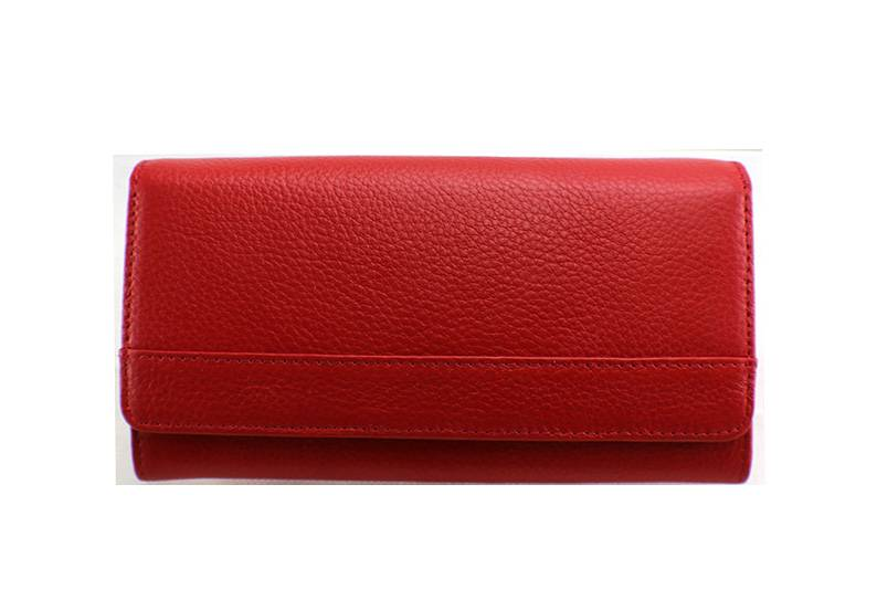 Red genuine women wallet