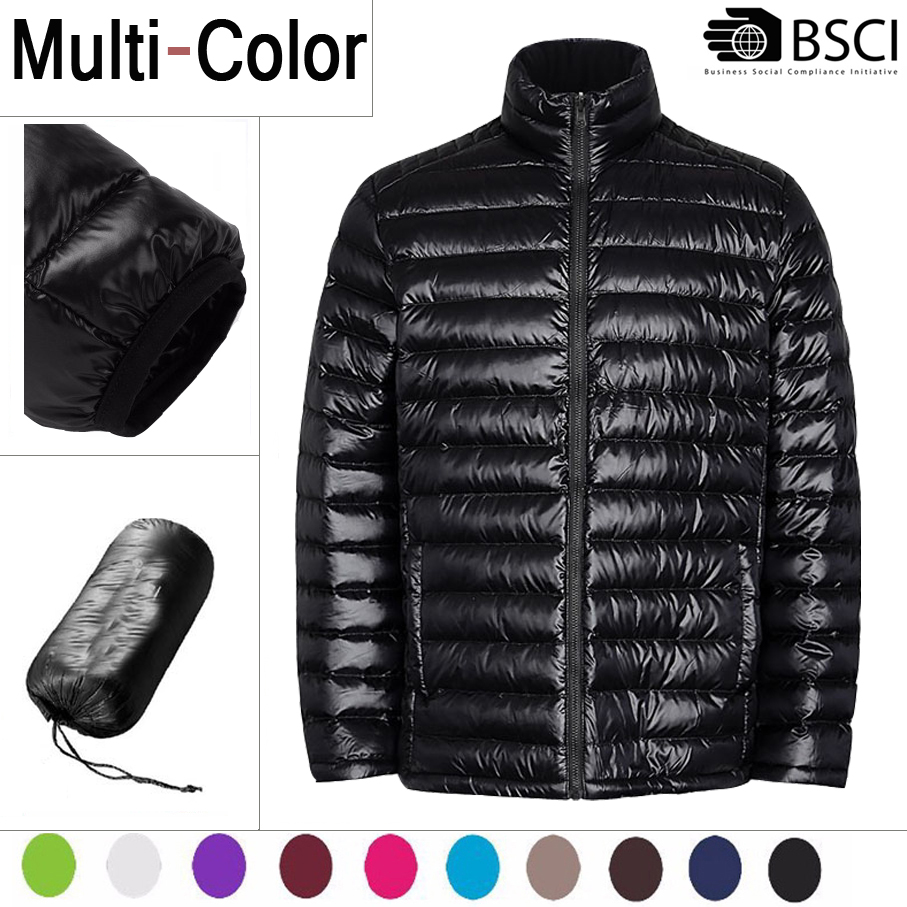 Stocklots Lightweight Packable Shiny Ultra Light Thin Impact Comfortable Duck Down Jacket For Winter