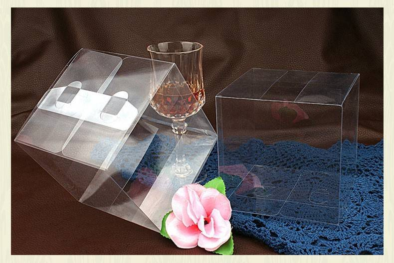 Clear Wedding PVC Box Gift Craft display Box Transparent plastic boxes