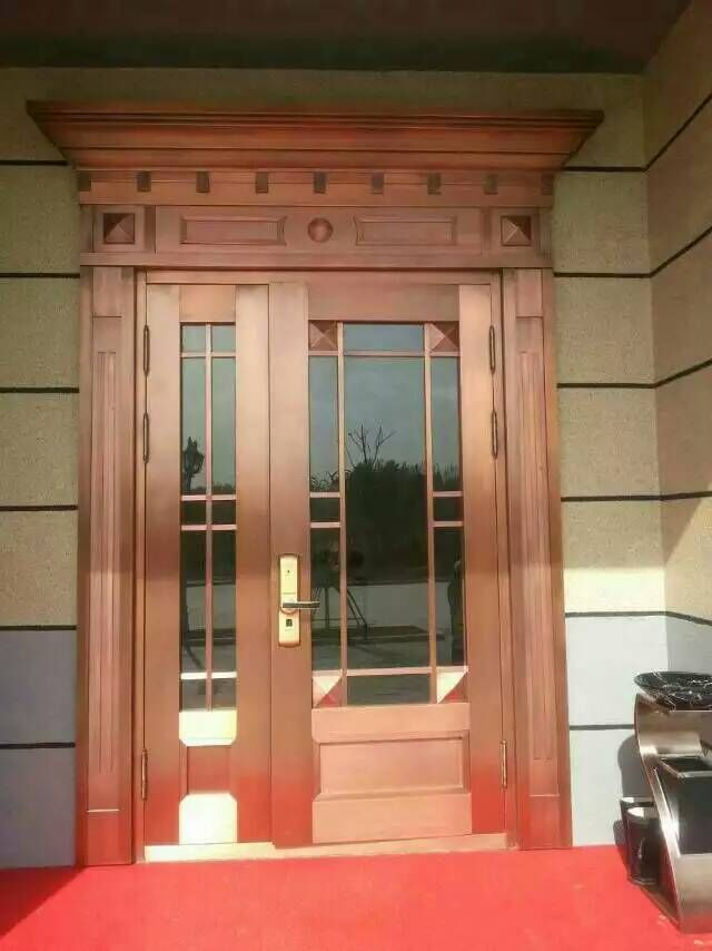 Good Quality Luxurious Copper Wood Composite Door And Window
