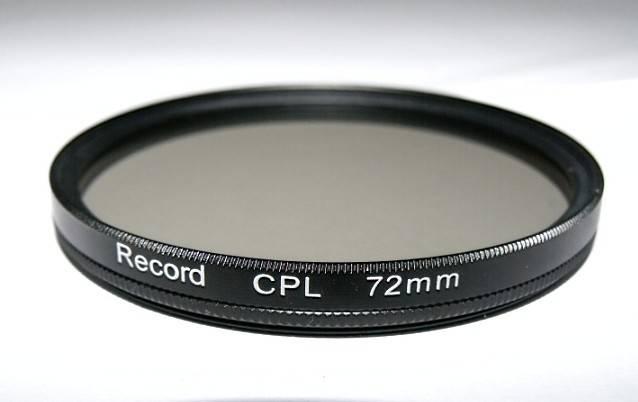 72mm circular polarizing filter camera CPL filter