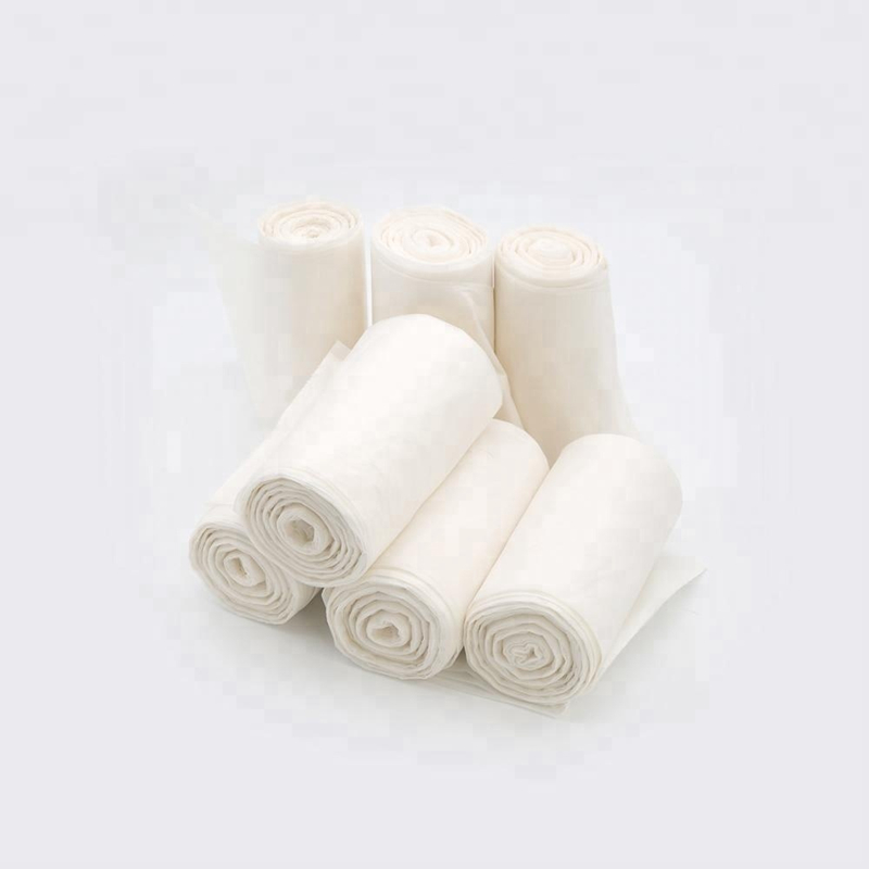 Biodegradable and compostable trash bags with PLA friendly material for trash can