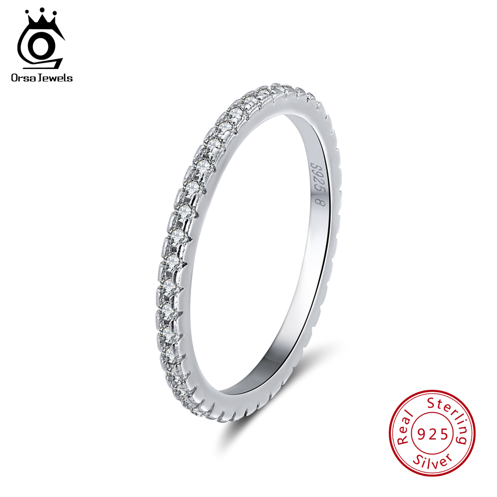 Real S925 Sterling Silver Wedding Band Ring