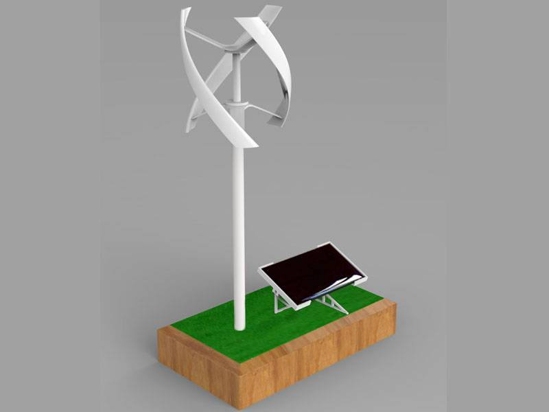 Uge Vertical Model-solar Powered Windmill