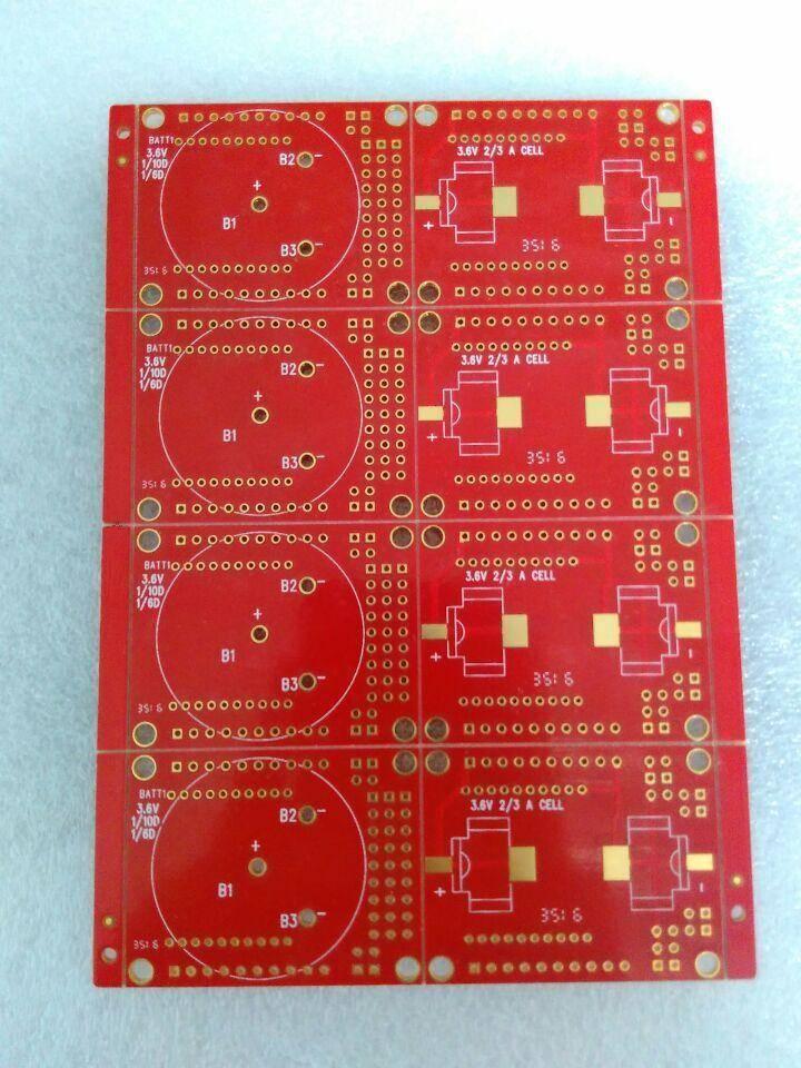 2L red solder board