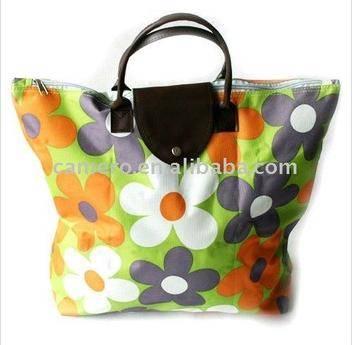 2014 fashion folded shopping bag