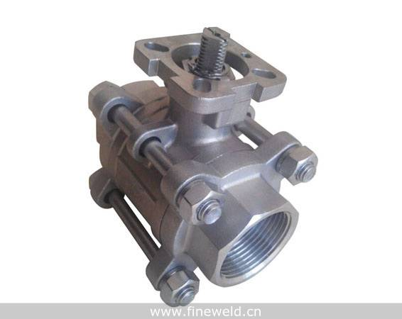 3 Piece threaded Ball Valve with mounting pad