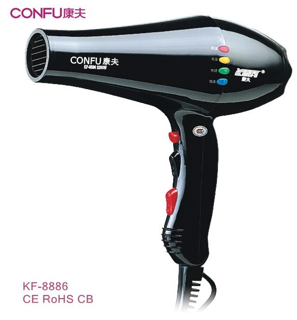 CONFU KF-8886 professional salon AC motor hair dryer cool shot 2200W