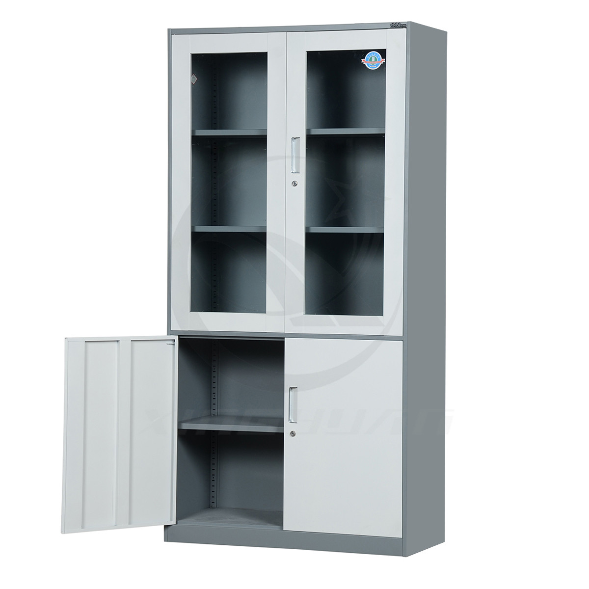Made in China swing glass door steel hospital pharmacy cabinets