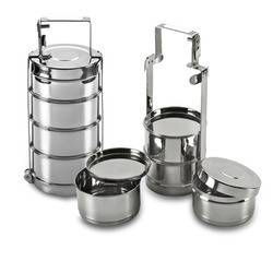 Stainless Steel Traditional Bombay Style Tiffin Lunch box for office and school