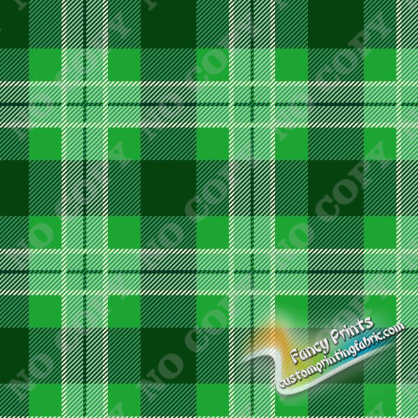 grids in green print for poly canvas fabric
