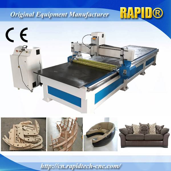 China RD1355 Sofa Making Double Position with Roller Wood CNC Router