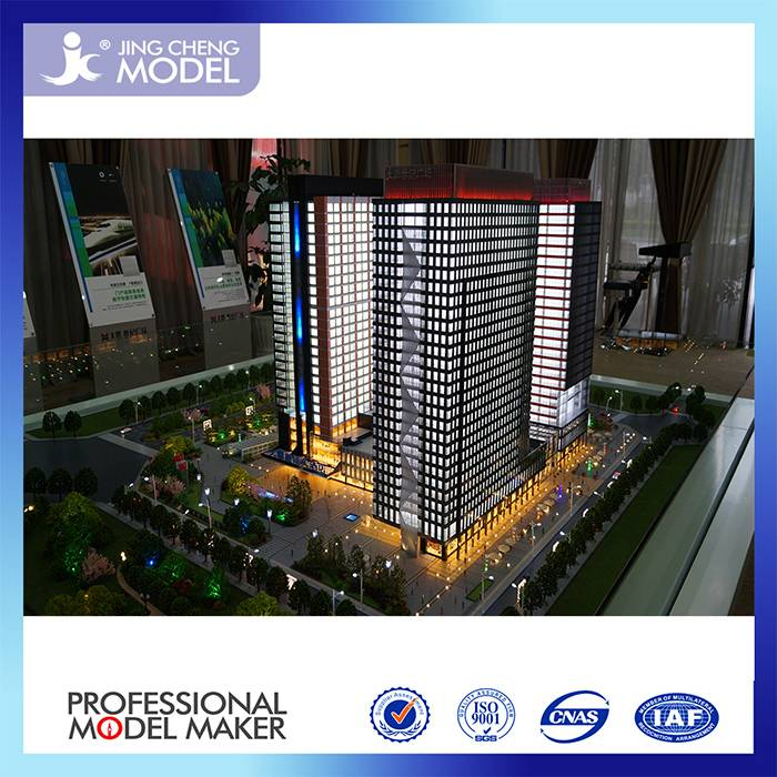 High rise office building model making for exhibition