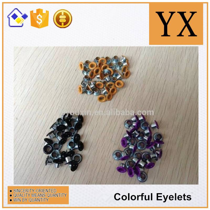 Curtain metal colored eyelet
