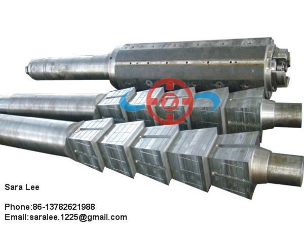 Rolling mill metal coiler drum shaft