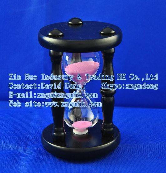 Wooden hourglass timer wooden , wooden household items , wooden toiletries