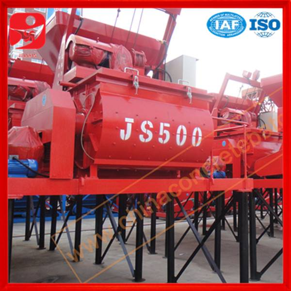 China well-know brand double shaft concrete mixer