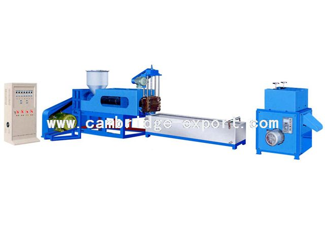 Water-cooling Single Extrusion Recycling&Pelletizing Machine