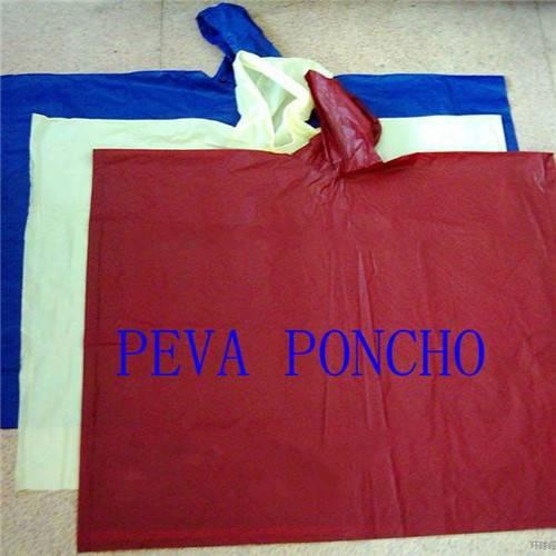 100% PEVA Rain Poncho