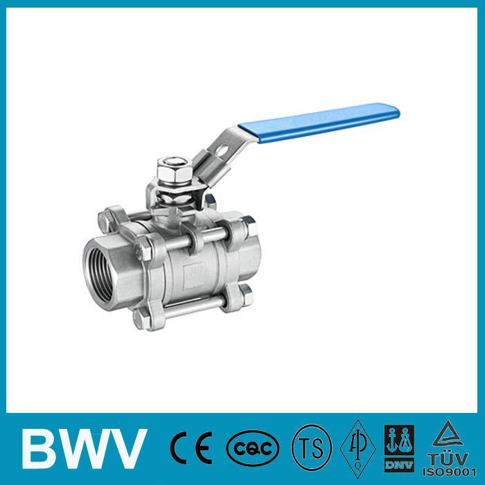 3PC Stainless Steel Ball Valve Threaded Ends 1000WOG