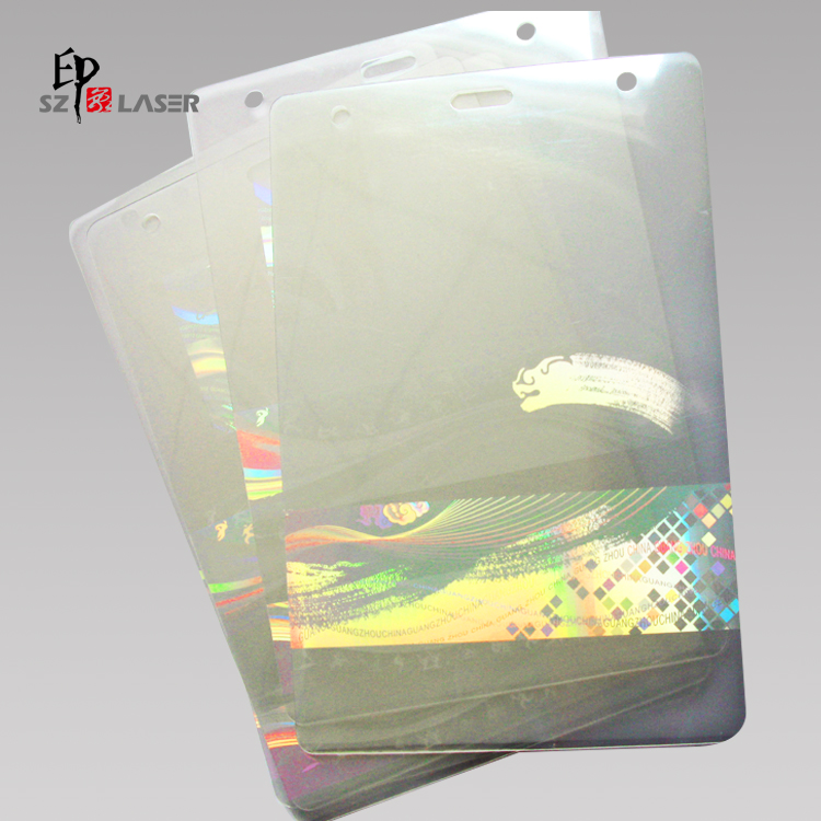 225Mics Heat Seal Hologram Laminating Pouches with Embeded Logo