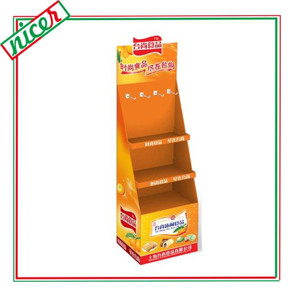 Corrugated Hanging Display Board With Shelves