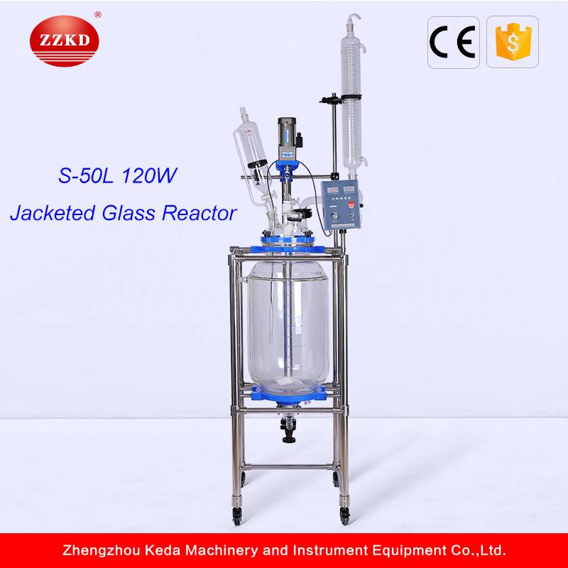 50L Double Layer Chemical Glass Reactor