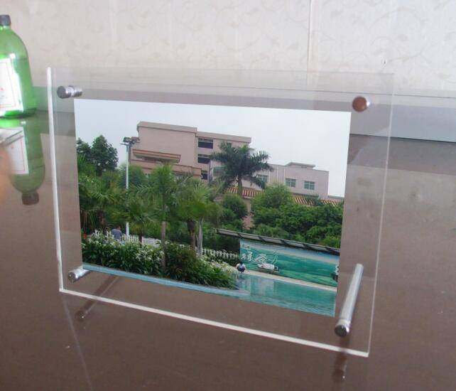 Wholesale 5*7 inch transparent perspex photo frame