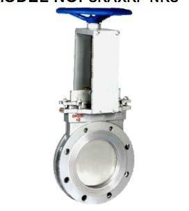 knife gate valve,non-rising stem,carbon stainless steel,bolted gland design, ONE-PIECE type, PAPER,