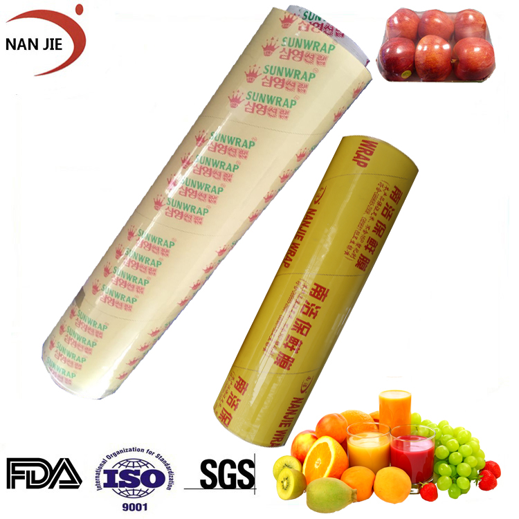 Transparent food grade pvc cling film with high quality packaging cling wrap