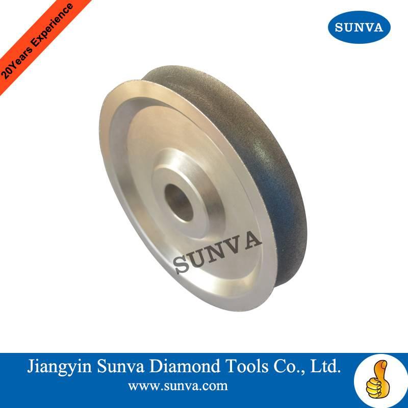 SUNVA Concave Diamond Grinding Wheel / Electroplated diamond grinding wheel