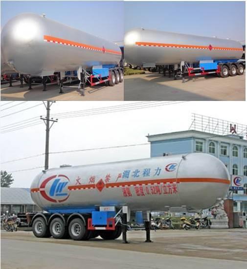 LPG tank truck trailer with 3 FUWA alxes