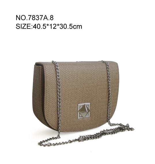 Women's Metal Chain leather Shoulder Bag