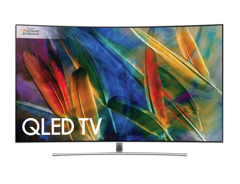"Samsung QE65Q8C Curved QLED HDR 1500 4K Ultra HD Smart TV, 65"" with TVPlus/Freesat HD & 360 Design,"