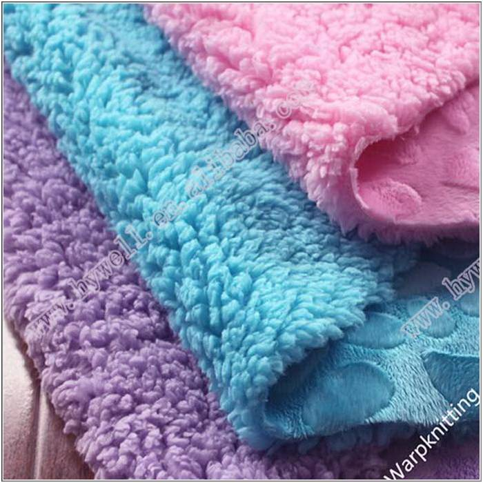 100% Polyester  Micro Velboa for Blankets