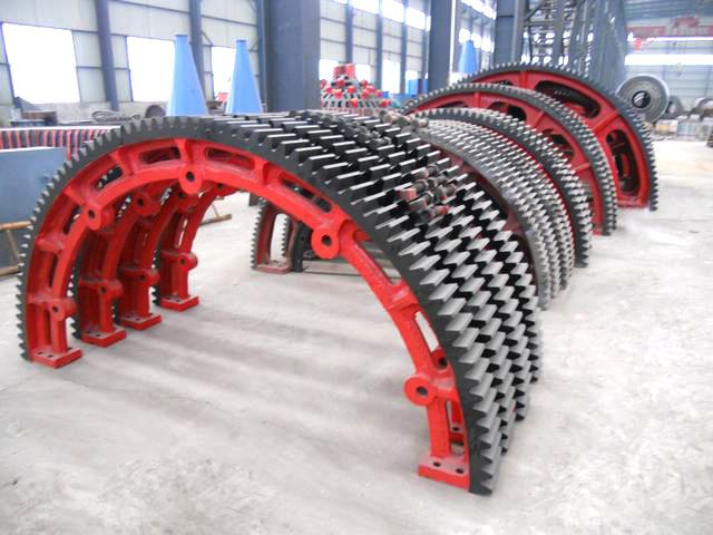 3400mm diameter of the large kiln gear