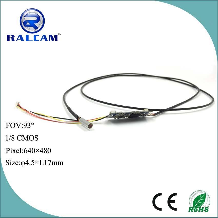 4.5mm diameter AV output close focusing distance camera module for medical endoscope