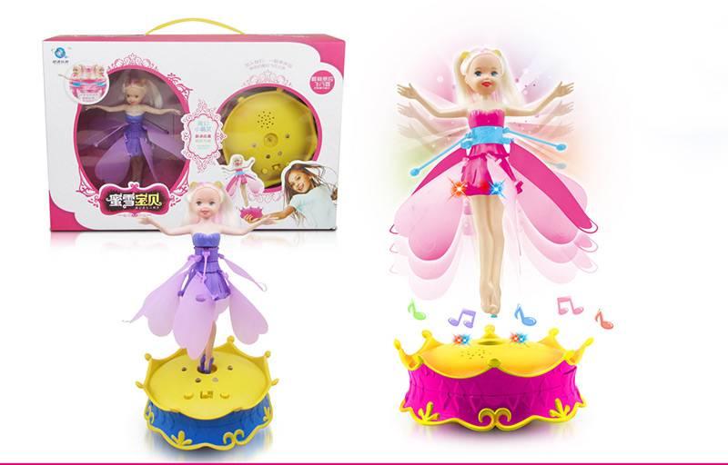 2014 New Toys For Girls ! Magic Flying Barbie Doll With Light, Sensing Flying Fairy