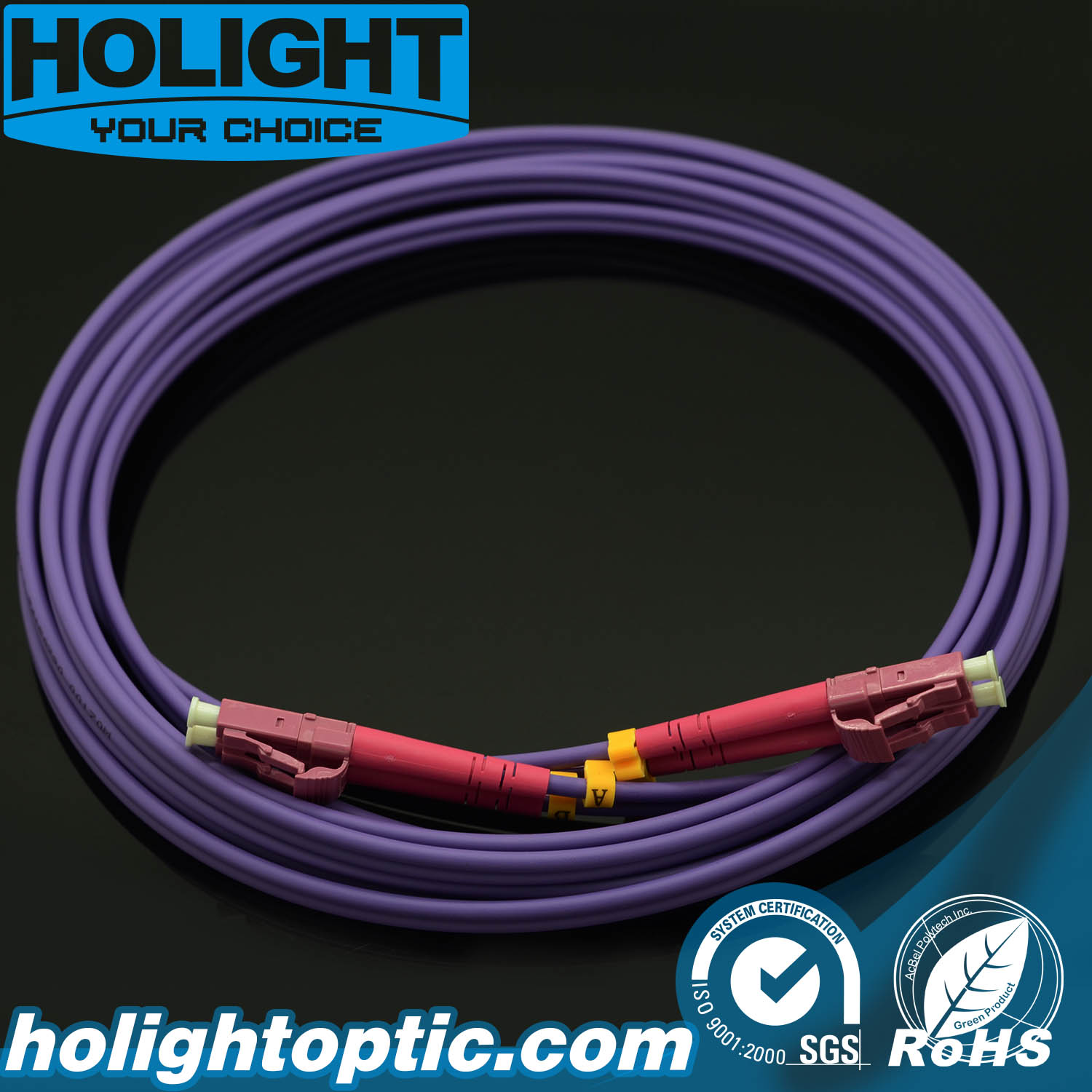 Fiber Patch Cord Duplex LC to LC 3.0mm Om4 Multimode