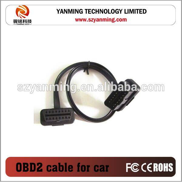 ELM327 right angle OBD2 M to F Flat OBD extension Cable