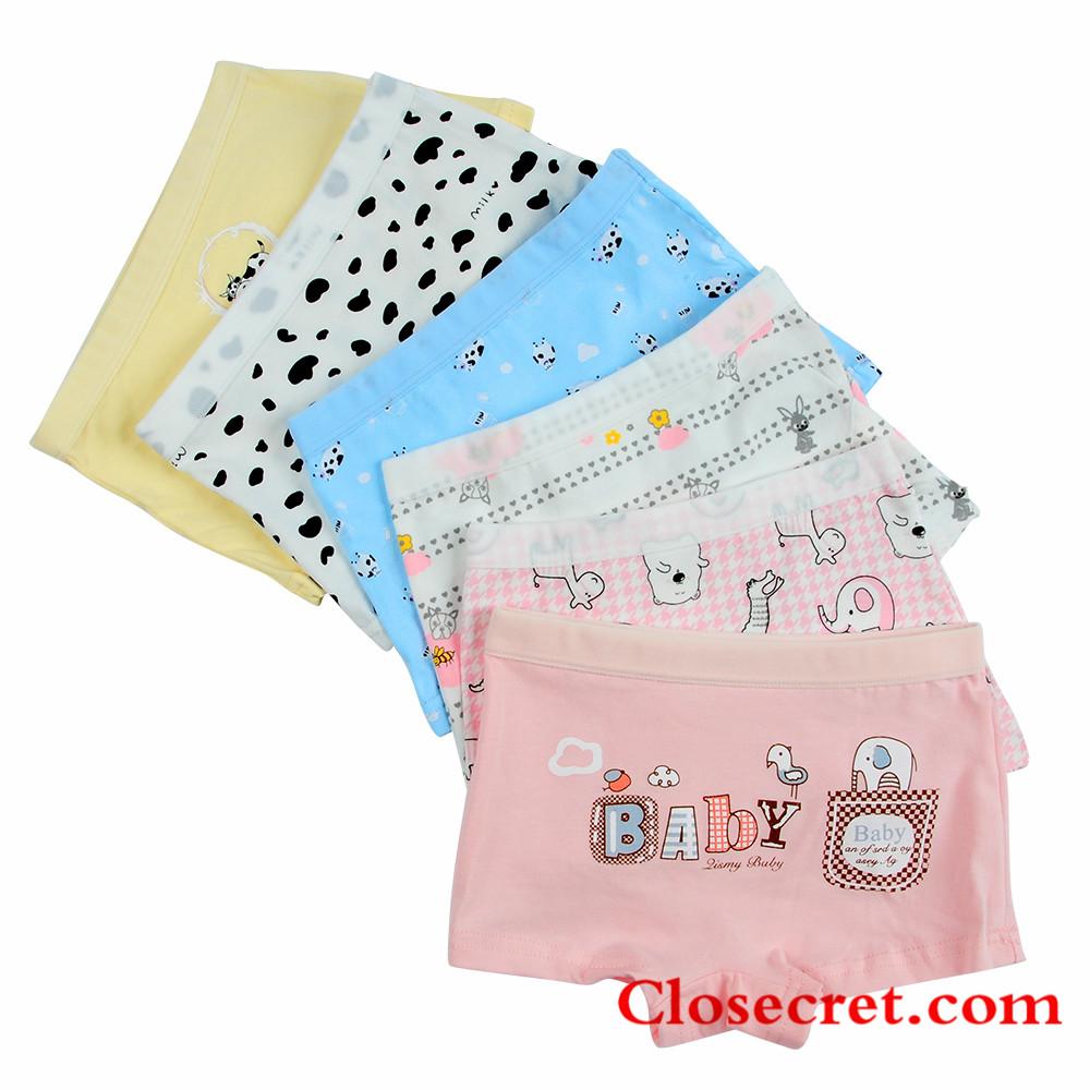 Closecret Kids Series Baby Underwear Little Girls' Cotton Boyshorts Panties (Pack of 6)