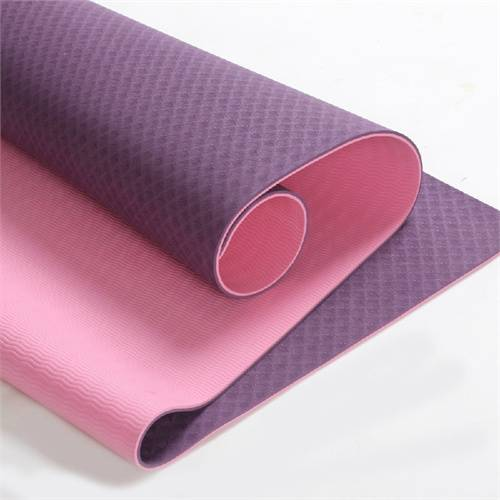 Eco Friendly Two Layer TPE Premium Yoga Mat, Free of PVC and Other Toxic Chemicals, Non-Slip, Extra