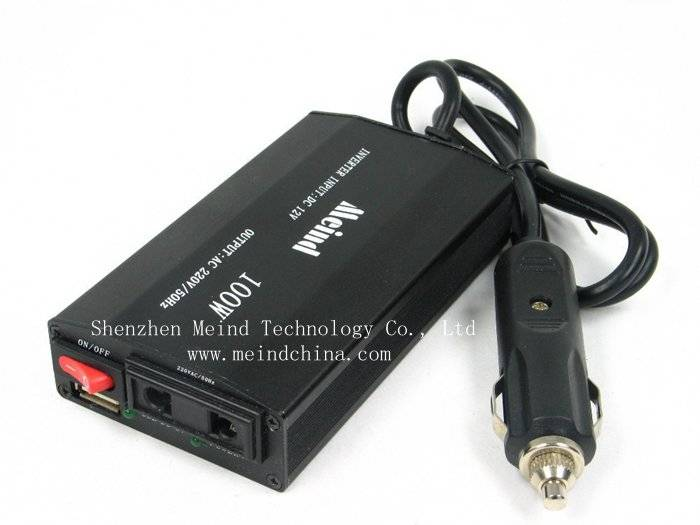 100W DC to AC Car Power Inverter Thin USB Converter Adapter Adaptor Transformer Charger