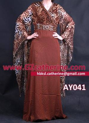 Brown Leopard Sexy Fashion Kaftan Skirt