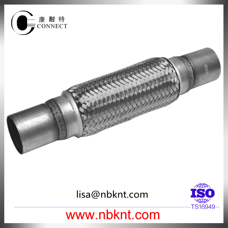 Automobile stainless steel exhaust corrugated flexible pipe with nipples