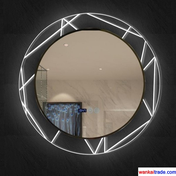 Environmental protection new style PVC + transparent glass bathroom mirror