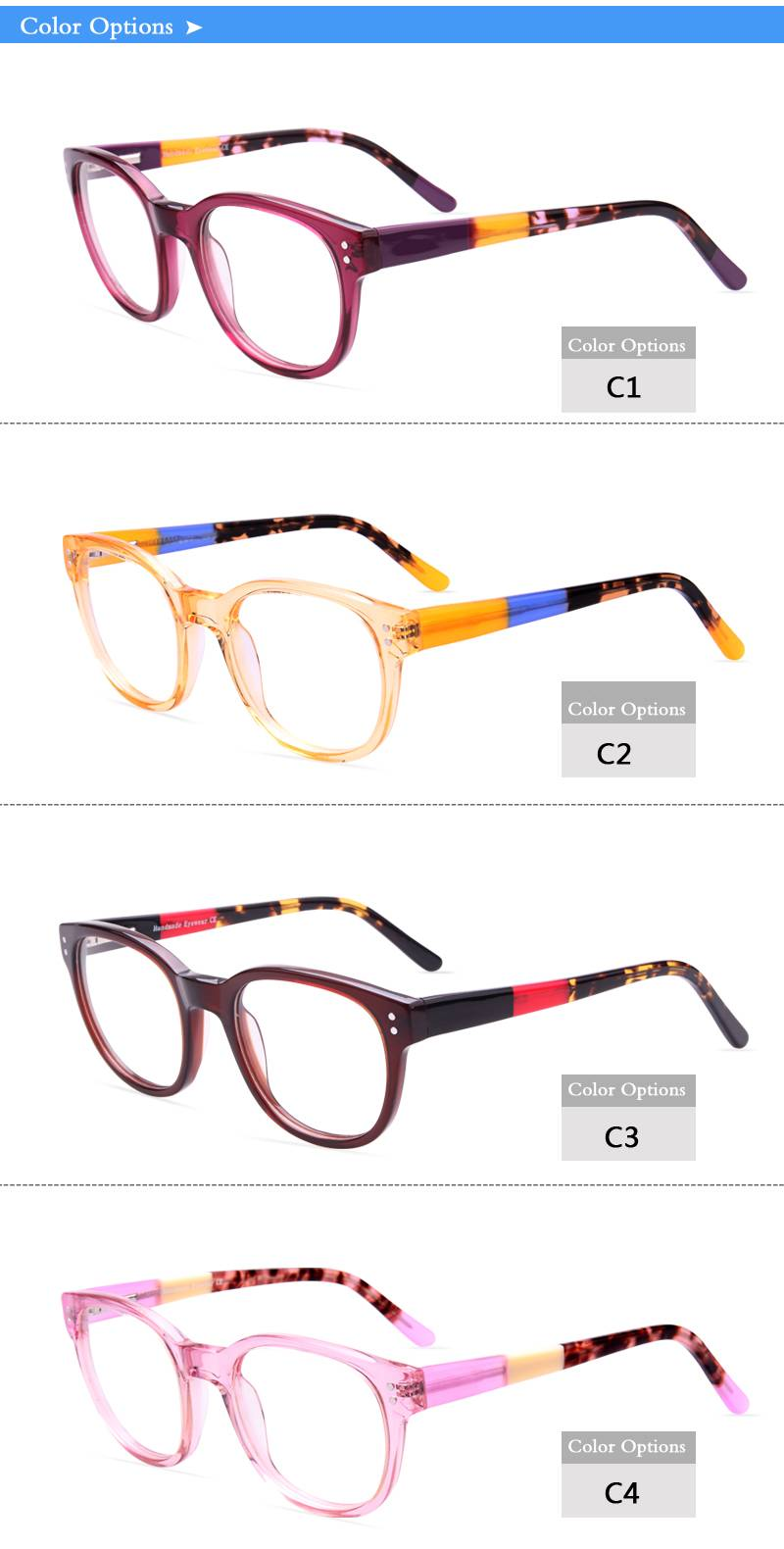 Fashion design acetate eyeglass optical frame JC9014 ready in stock