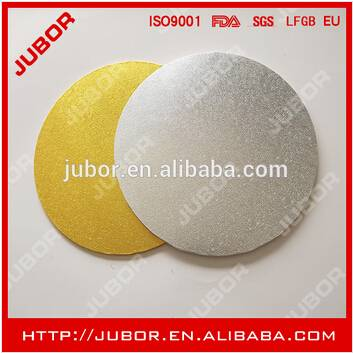 Round Gold And Silver Foil MDF Cake Boards