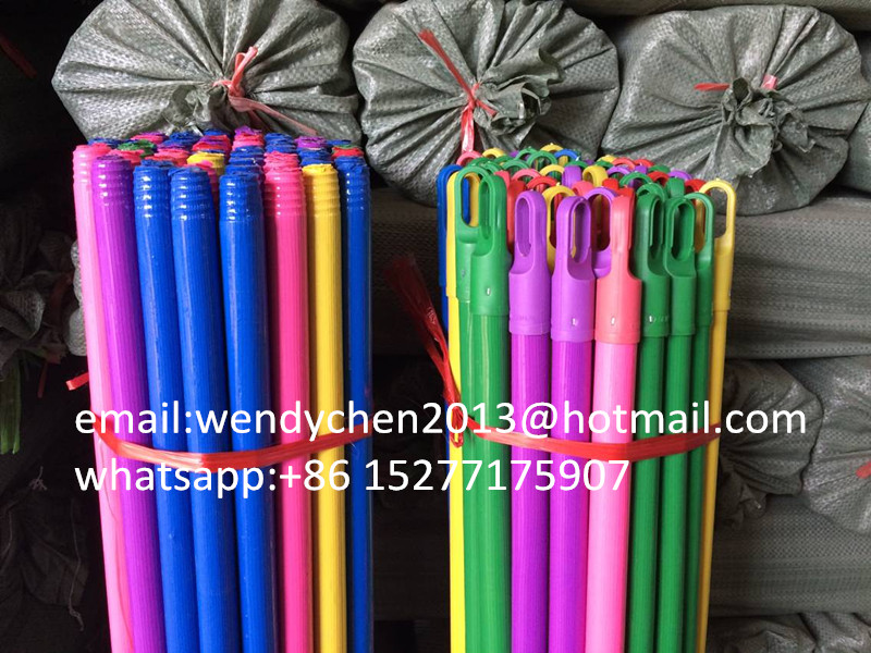 120cm22mm hot sale wood Italian thread mop stick with color cap